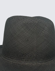 Detail of top of Navy Continental Hat