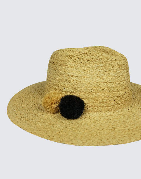 Side close-up of Motto Rancher Hi! Straw Hat
