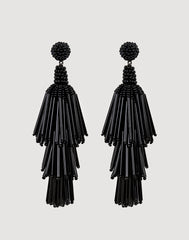 Rain Earrings in Black