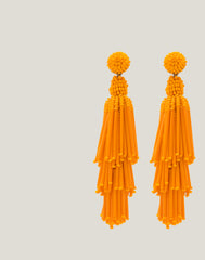 Detail shot of  Rain Earrings in Orange