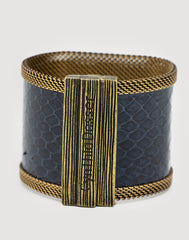 Labradorite Navy Snakeskin Cuff closed