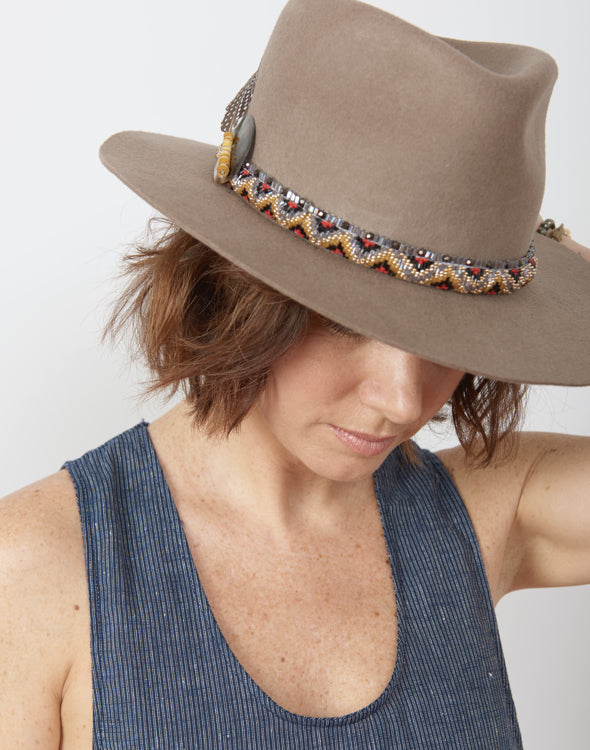 Air, Earth, and Water Hand Beaded Hat