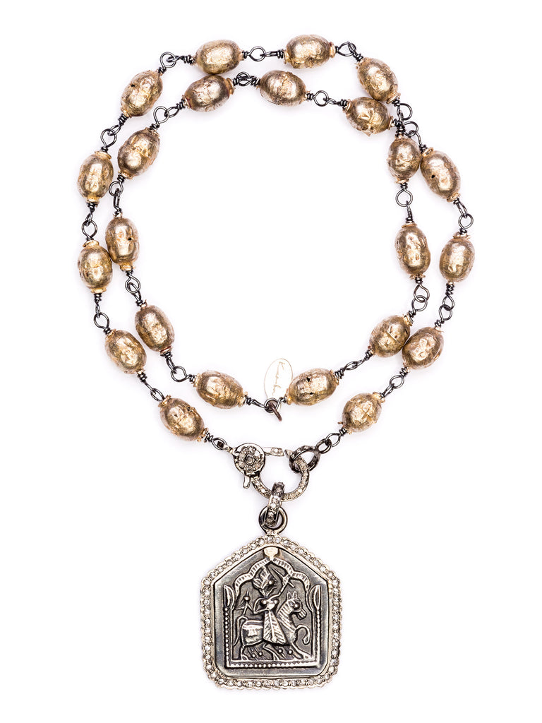 Front shot of Sacred Silver Talisman