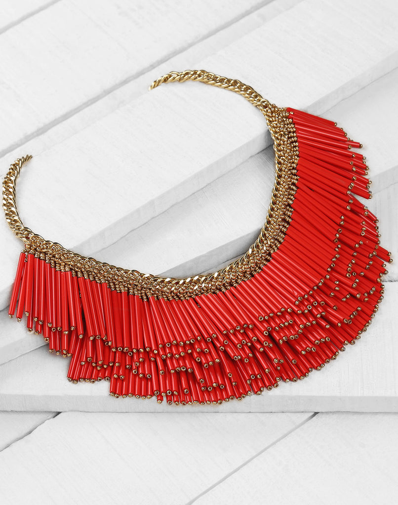 Yvette Necklace in Red