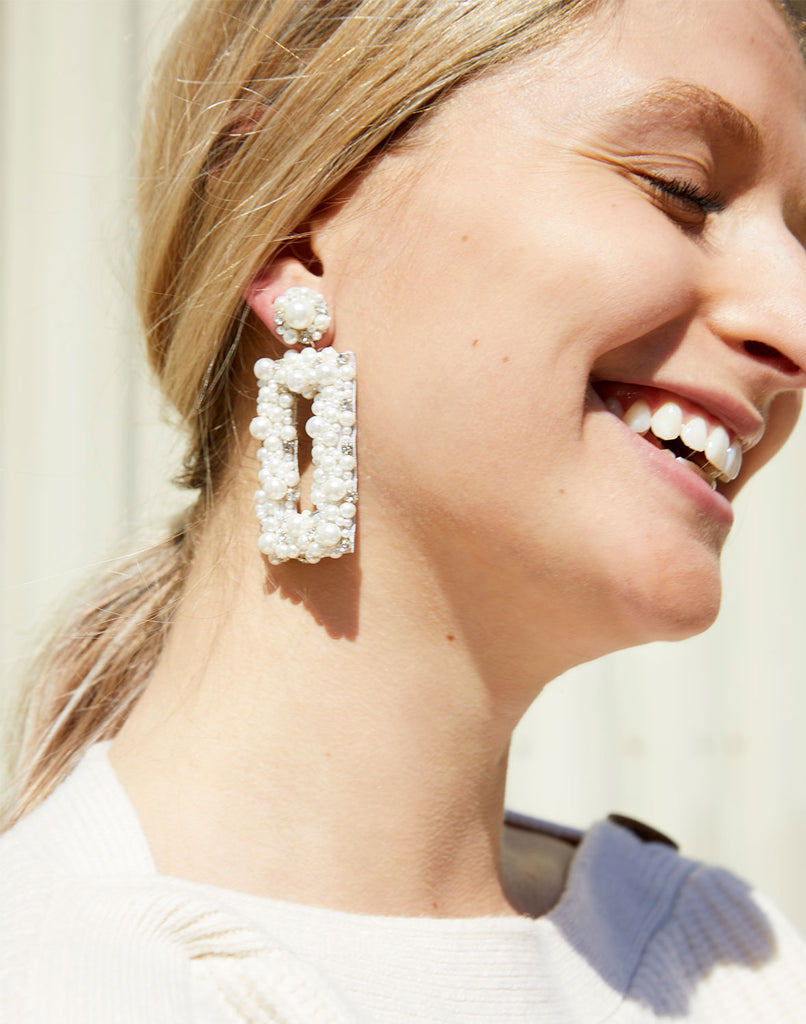 Model wearing Sophia Earrings