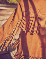 One-of-a-Kind Fringe Suede Jacket