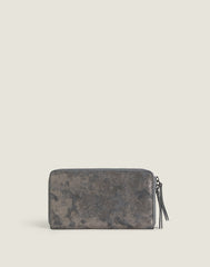 Metallic Clutcher Wallet in Pewter Metallic