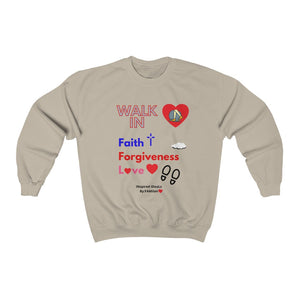 Walk IN Faith Heavy Blend™ INspired Crewneck Sweatshirt