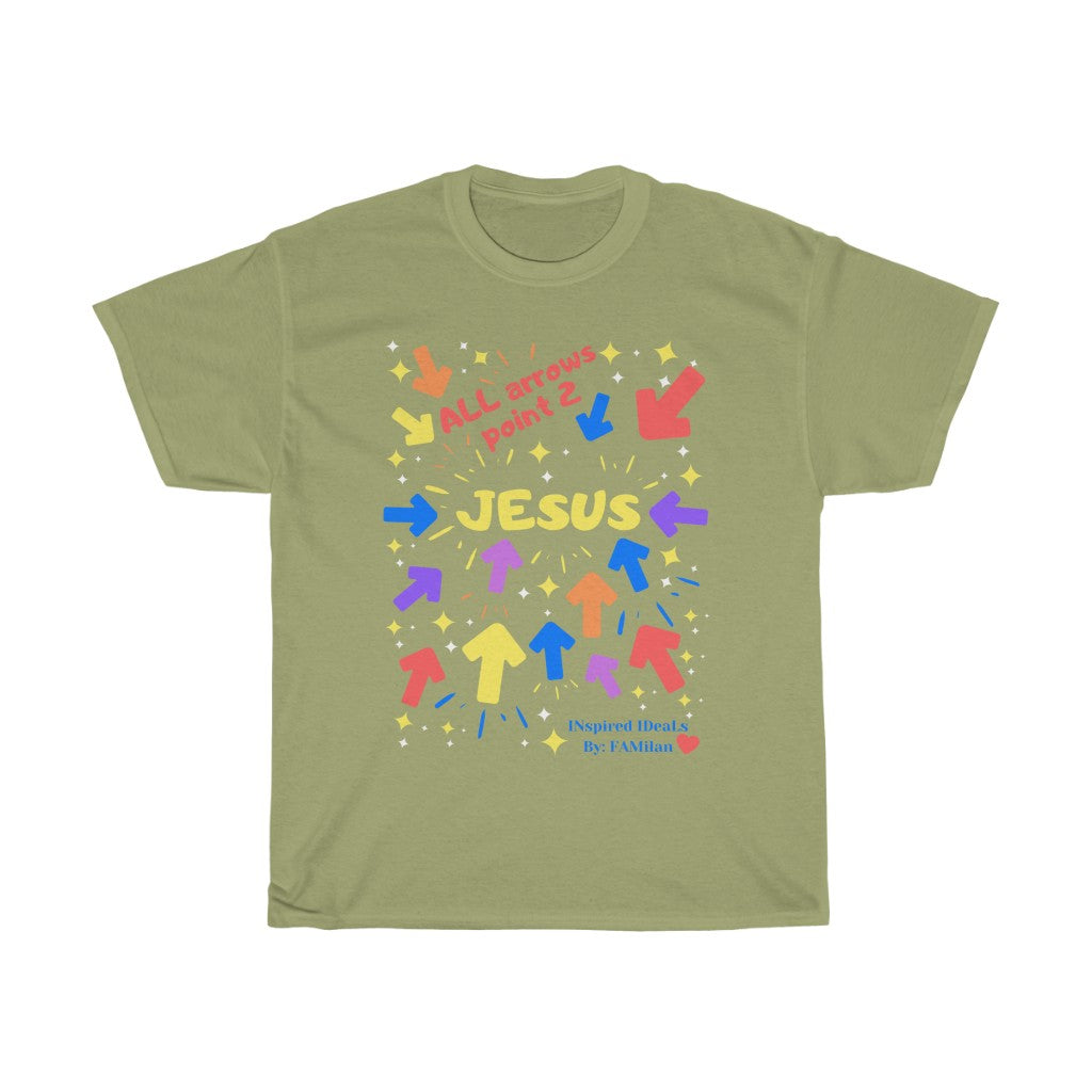 ALL ARROWS POINT 2 JESUS SHORT SLEEVE TEE