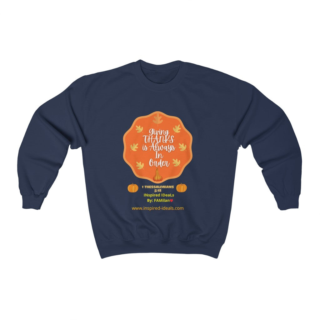 INspired Giving Thanks Heavy Blend™ Crewneck Sweatshirt