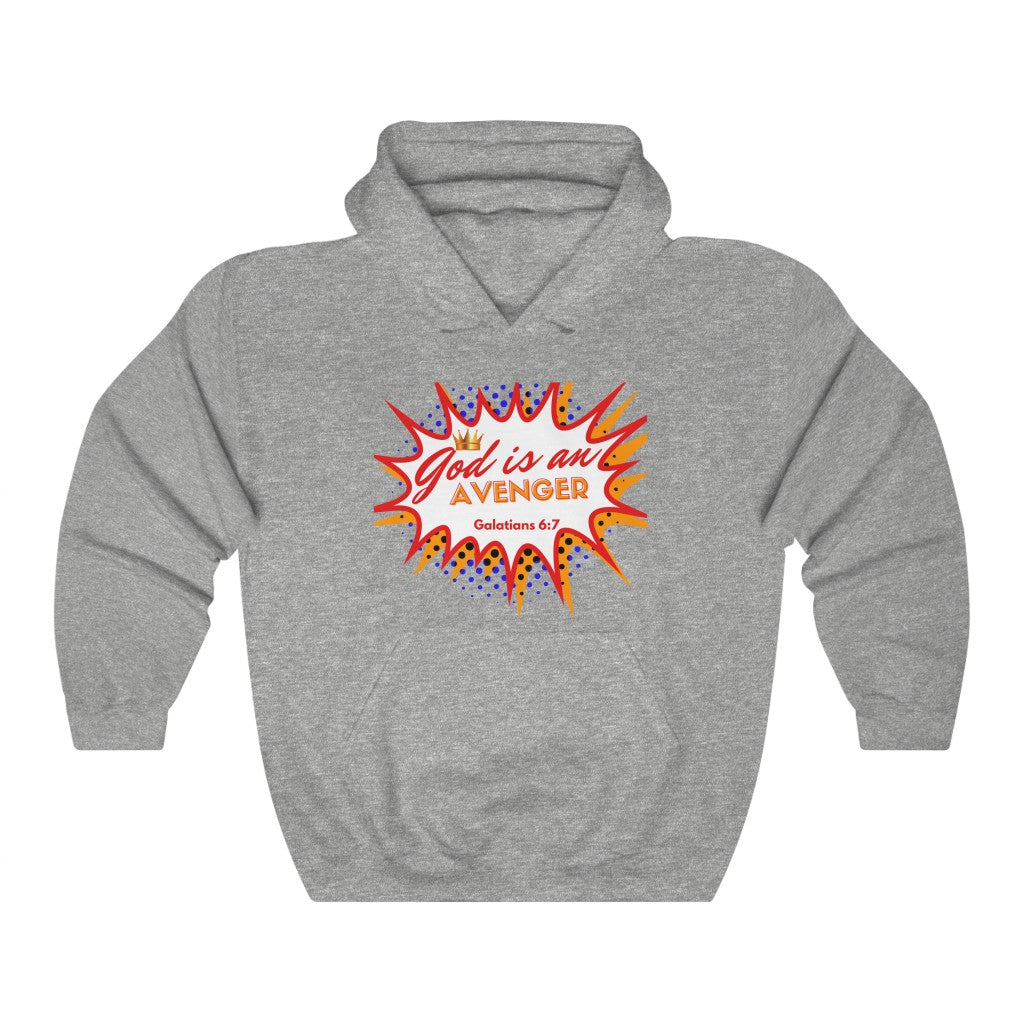 God is an Avenger 1 Heavy Blend™ Hooded Sweatshirt
