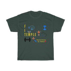 Fit TEMPLE 3  SS INspired Unisex Heavy Cotton TEE