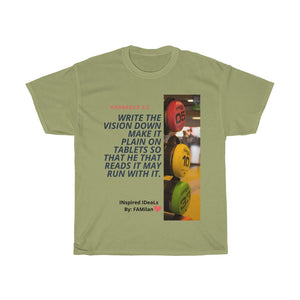 Habakkuk 2:2 INspired Heavy Cotton Tee