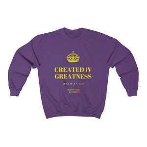 INspired Created IV Greatness  Heavy Blend™ Crewneck Sweatshirt