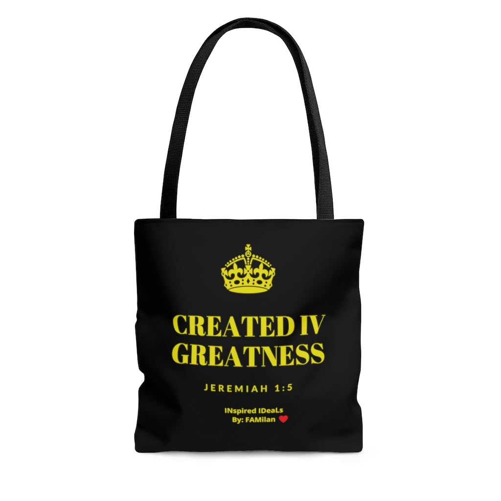 Created IV Greatness INspired AOP Tote Bag