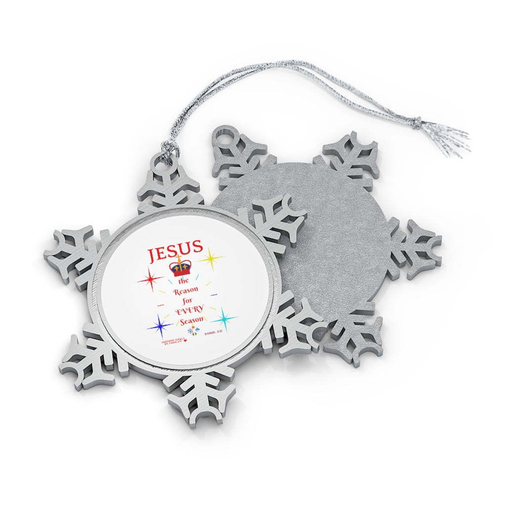 INspired Pewter Snowflake Ornament with Message