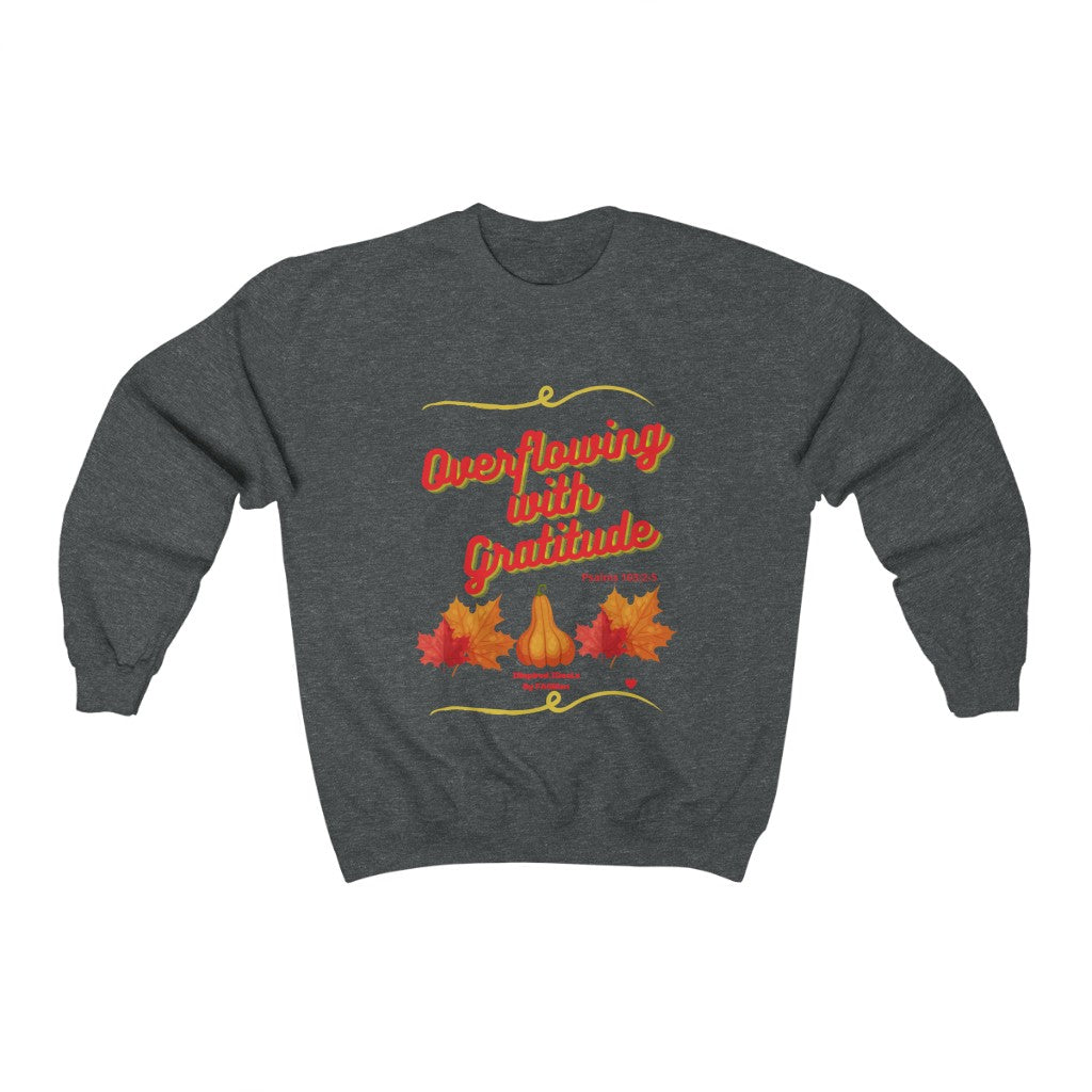 Overflowing with Gratitude INspired Heavy Blend™ Crewneck Sweatshirt