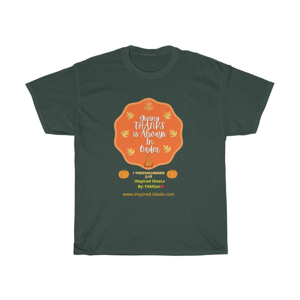 INspired Giving Thanks Heavy Cotton TEE
