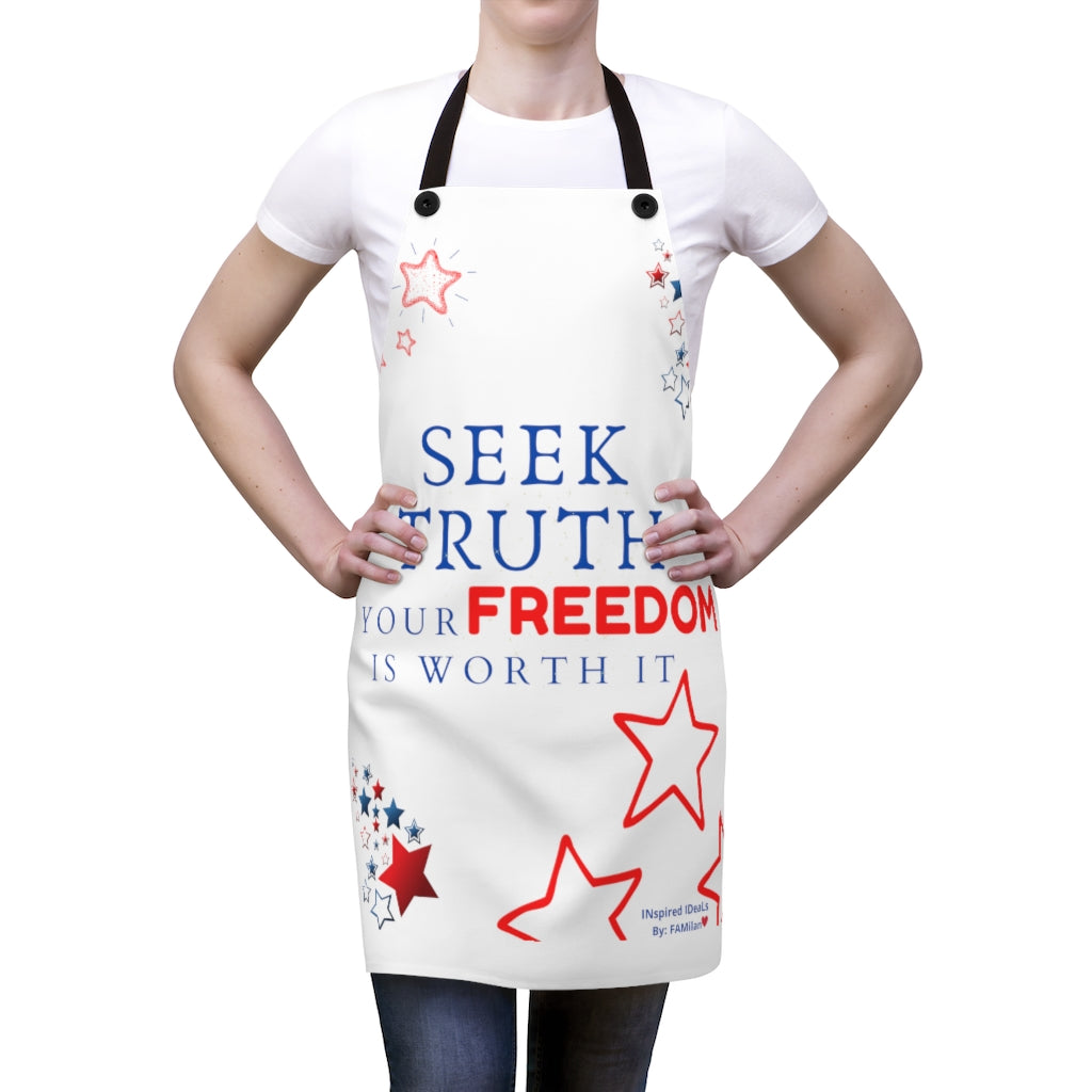 SEEK TRUTH INspired Apron