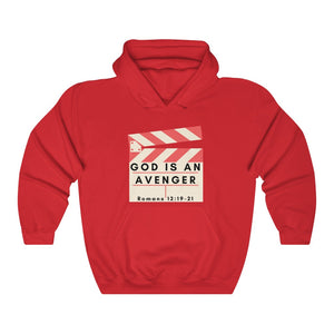God is an Avenger 2 INspired Heavy Blend™ Hooded Sweatshirt