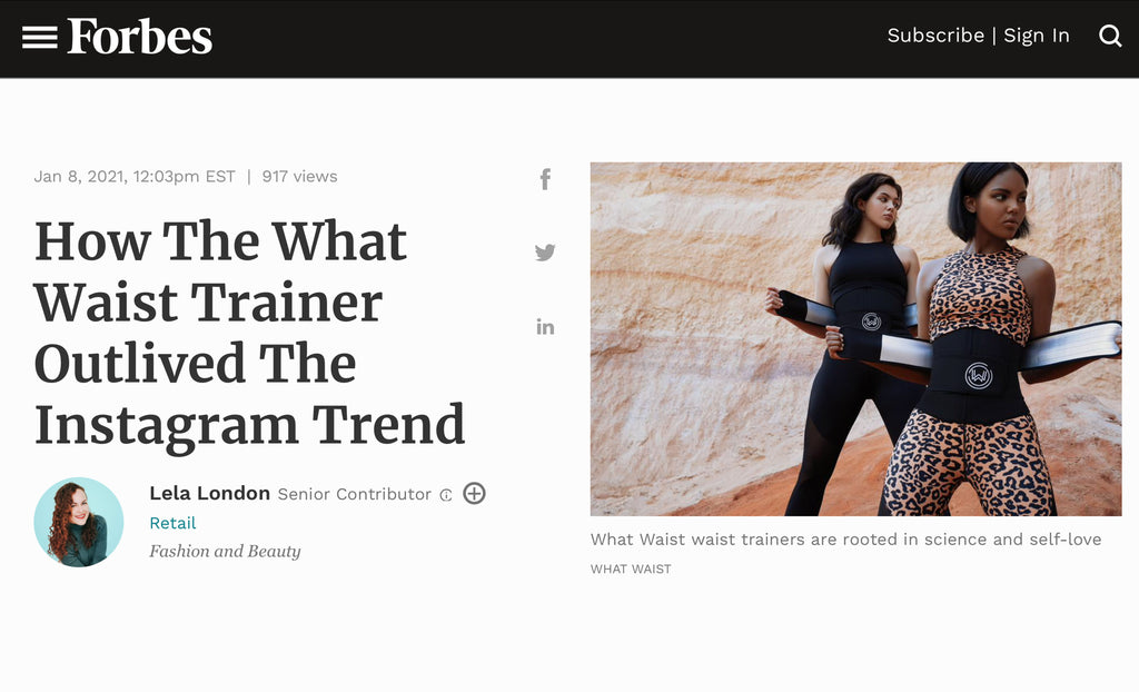 What Waist Featured in Forbes: More Than a Waist Trainer Brand