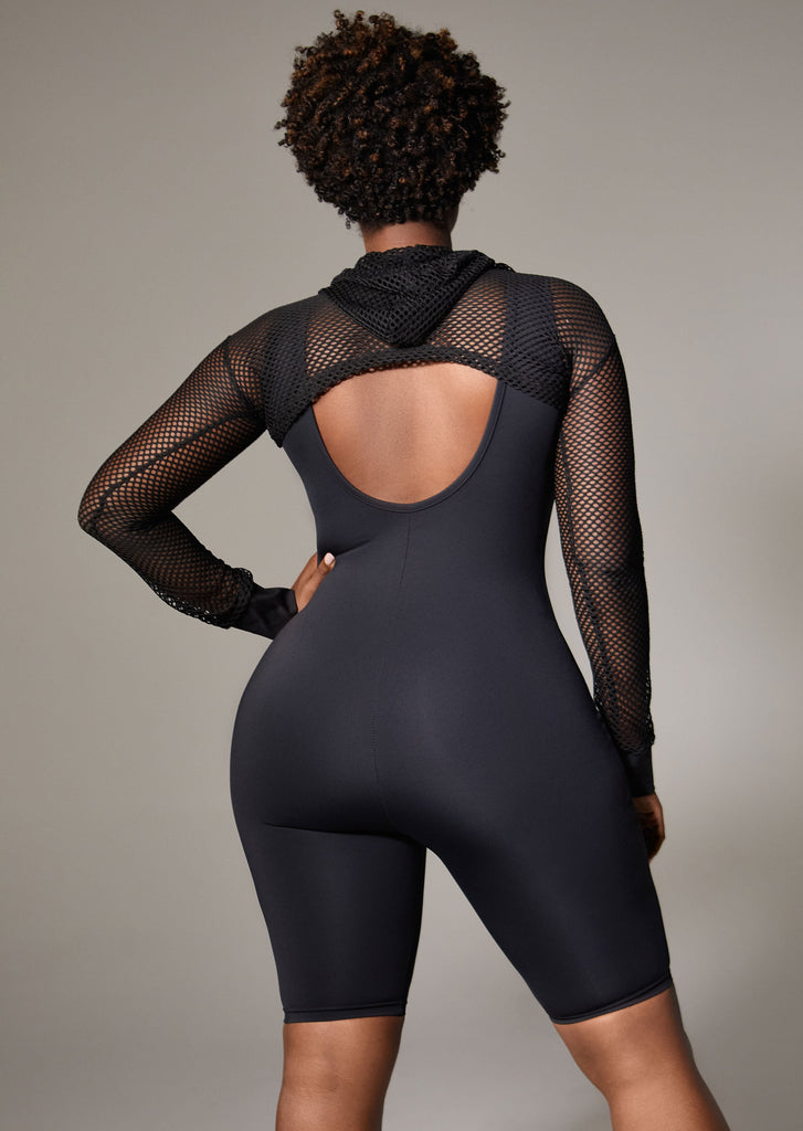 Black Lounge Bodysuit What Waist