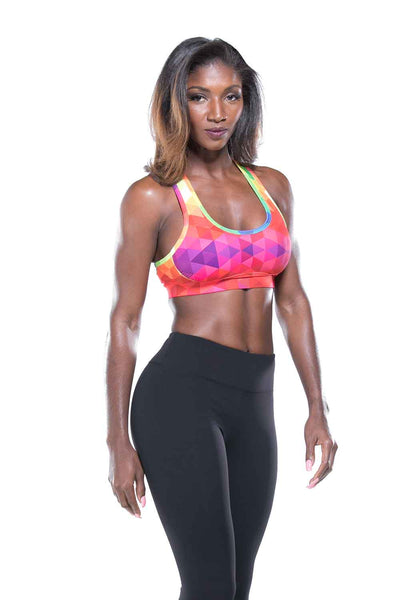 Hypnotic Multicolor Sports Bra
