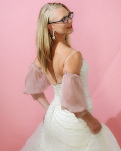 Ashlynn-Bridal Pouf Sleeves Short