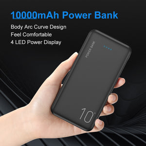 FLOVEME 10000mAh Power Bank Portable Charger