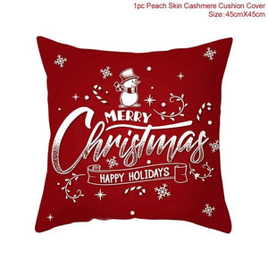 FENGRISE 45x45cm Cotton Linen Merry Christmas Cover Cushion Christmas Decor for Home Happy New Year Decor 2019 Navidad Xmas Gift
