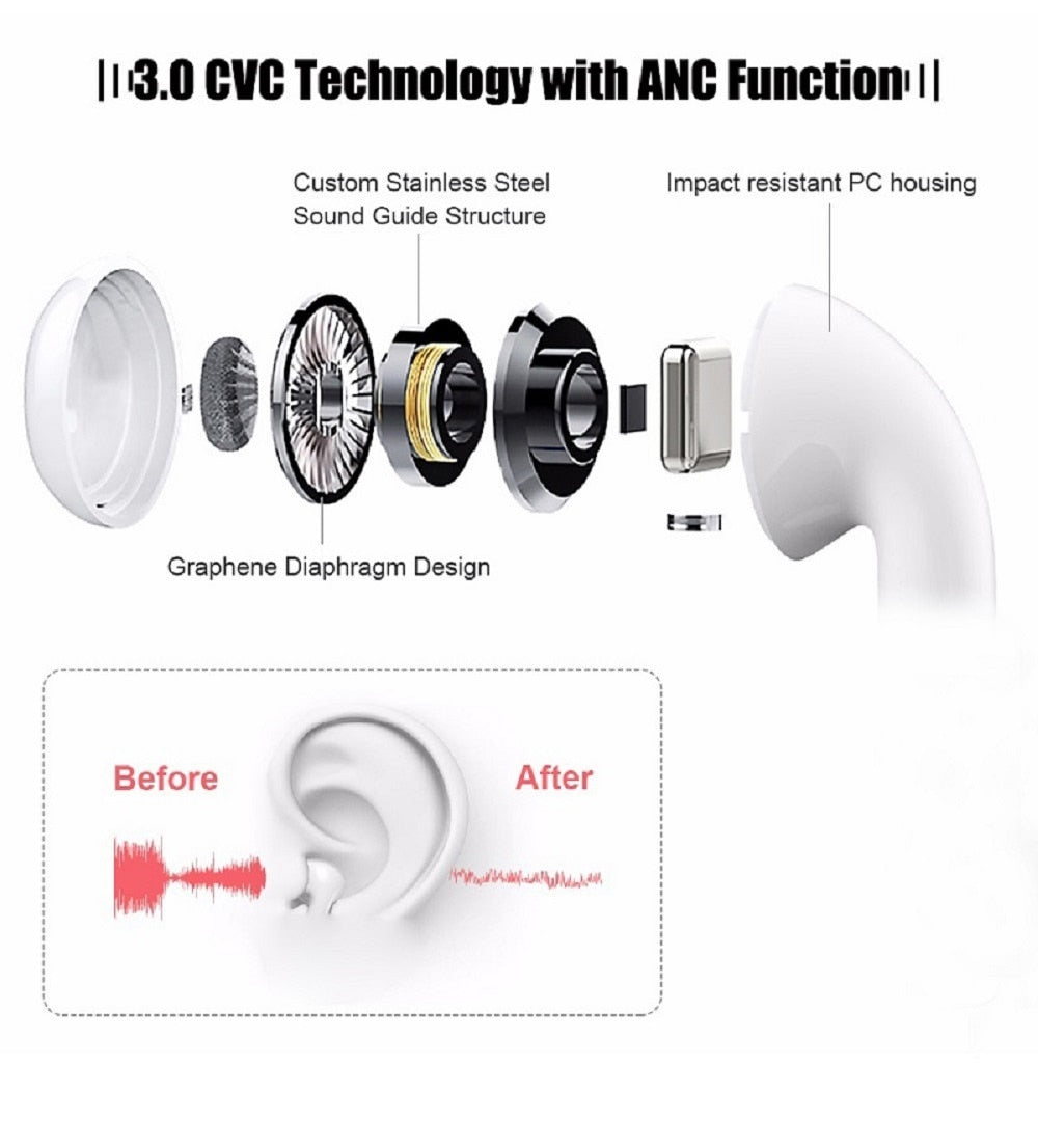i200 TWS Bluetooth Headphones Pop-up Wireless Earphone