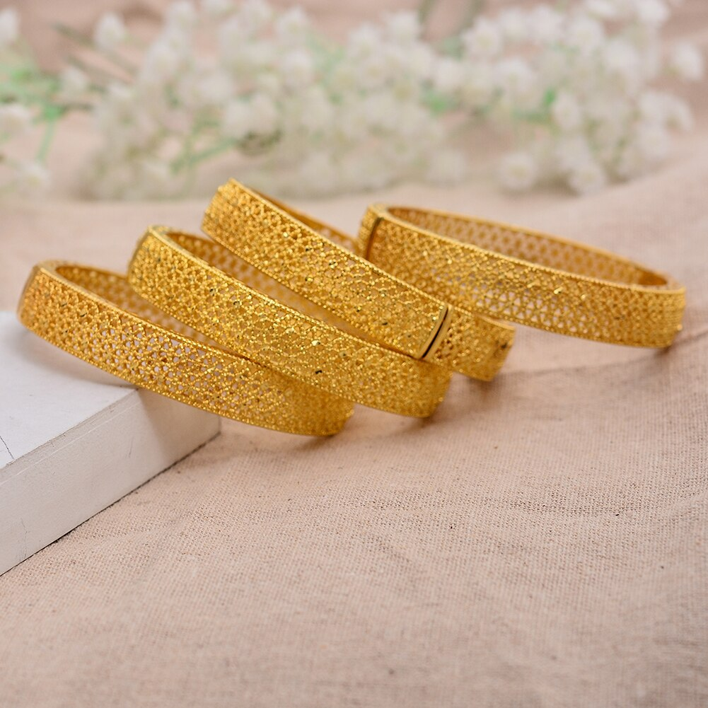 Gold Bangles for Women Gold Dubai Arab Jewelry Gold Charm kids Bracelet