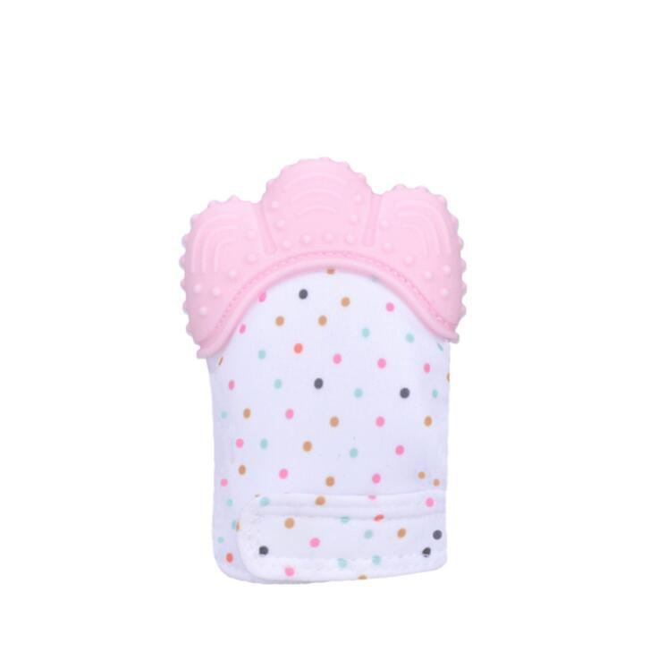 Baby Silicone Teething Mitten Glove