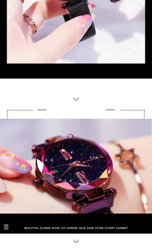Starry sky Wrist Watch For Ladies