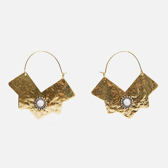 New Shell Metal Maxi Vintage Drop Dangle Earrings