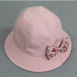 Unisex Flower Print Cotton Baby Summer Hat