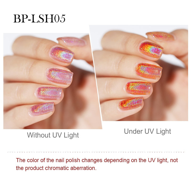 Light Sensitive Holographic Nail Polish