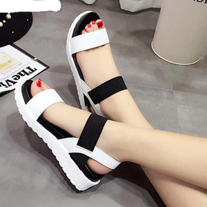 Women's Summer flat peep-toe  Casual sandals