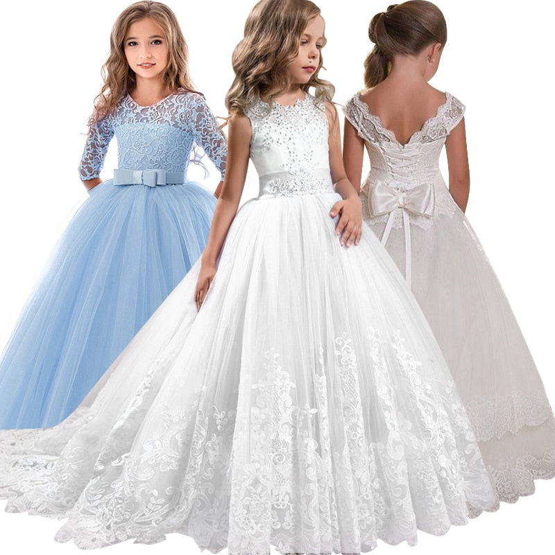 New lace Party dress for the flower girl