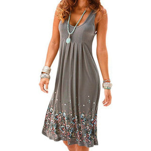 Women's Summer Floral Printed Maxi Dress