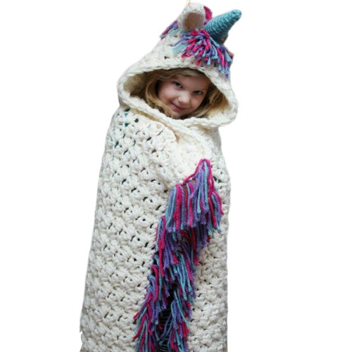 Unicorn Winter Hat Scarf Shawls