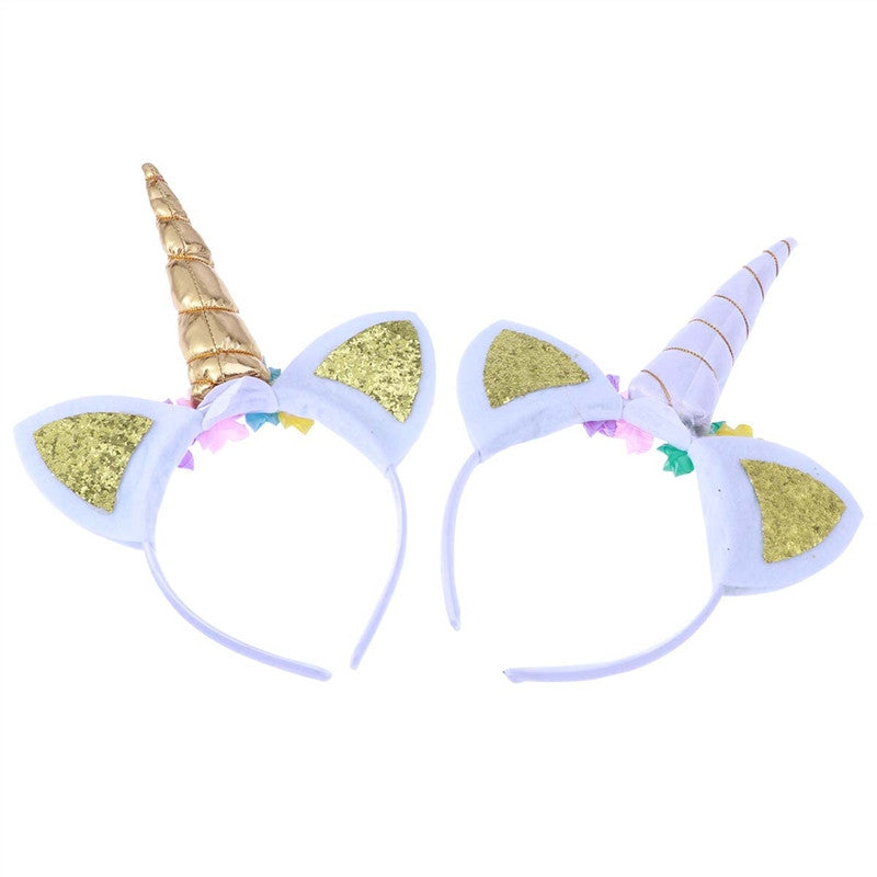 2 pcs Unicorn Headband Glitter for Party Favor Supplies