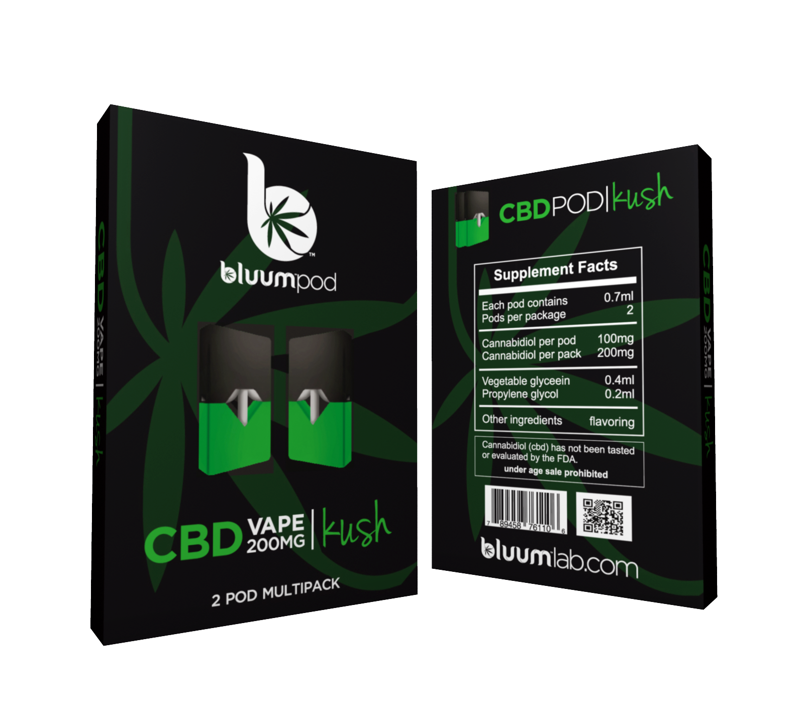CBD Pod Cartridges - 2pk
