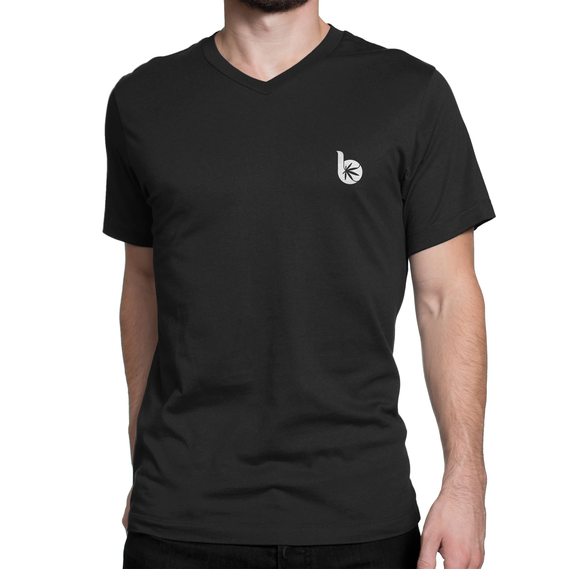 V-Neck Front/Back Logo T-Shirt