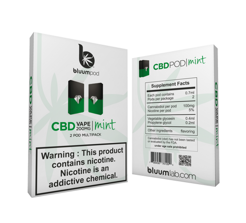 CBD CARTRIDGES WITH SALT NICOTINE 2PK