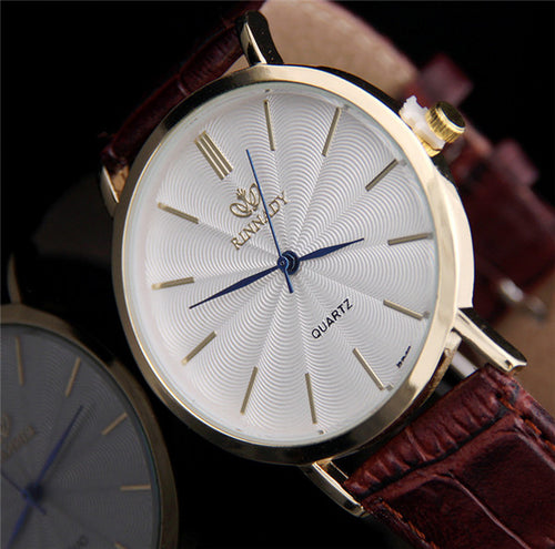 Business Leather Quartz Watches
