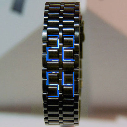 Blue LED Full Metal Creative Watches