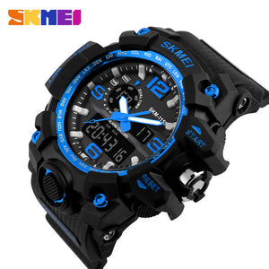 Chronograph Waterproof Dual Display Watches