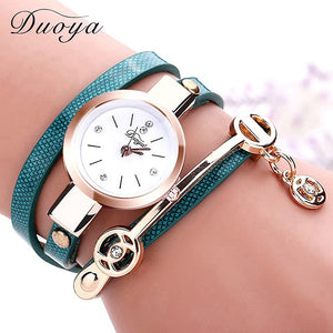 Women Leather Casual Bracelet Watches