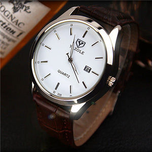 Luxury Male Leather Quartz Watches